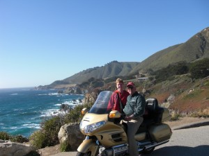 Rental Honda Goldwind at CA Coast