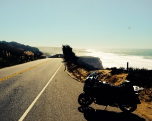 Rental BMW R1200RT at Pacific Coast Highway
